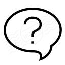 Speech Balloon Question Icon 128x128