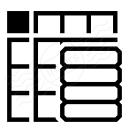 Spreadsheed Data Icon 128x128