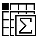 Spreadsheed Sum Icon 128x128