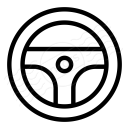 Steering Wheel Icon 128x128