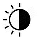 Sun Half Icon 128x128