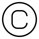 Symbol Copyright Icon 128x128