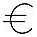 Symbol Euro Icon 128x128