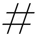 Symbol Hash Icon 128x128