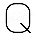 Symbol Q Icon 128x128