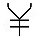 Symbol Yen Icon 128x128