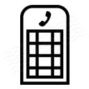 Telephone Box Icon 128x128