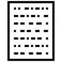 Text Binary Icon 128x128