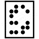 Text Braille Icon 128x128