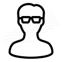 User Glasses Icon 128x128
