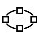 Vector Ellipse Icon 128x128