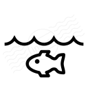 Water Fish Icon 128x128