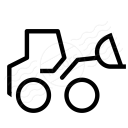 Wheel Loader Icon 128x128