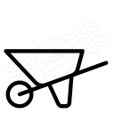 Wheelbarrow Icon 128x128