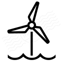 Wind Engine Offshore Icon 128x128