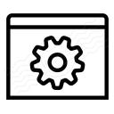 Window Gear Icon 128x128