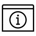 Window Information Icon 128x128