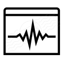 Window Oscillograph Icon 128x128