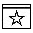 Window Star Icon 128x128