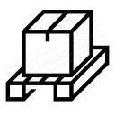 Wooden Pallet Box Icon 128x128