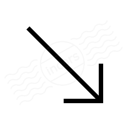 Arrow Down Right Icon 256x256
