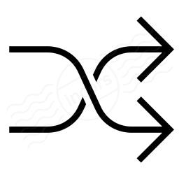 Arrow Shuffle Icon 256x256