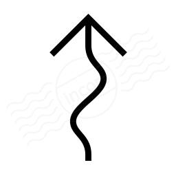 Arrow Squiggly Icon 256x256