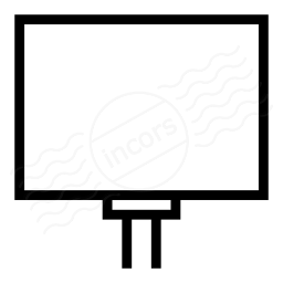 Billboard Empty Icon 256x256