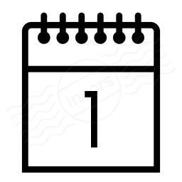 Calendar 1 Icon 256x256