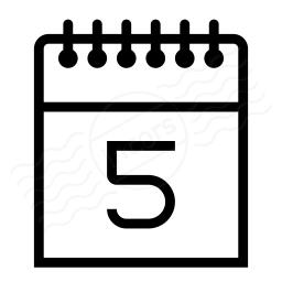 Calendar 5 Icon 256x256