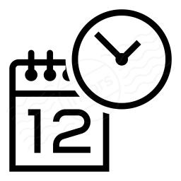 Calendar Clock Icon 256x256