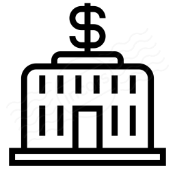 Central Bank Dollar Icon 256x256