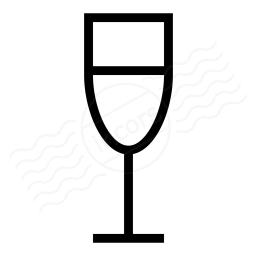 Champagne Glass Icon 256x256
