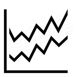 Chart Line Icon 256x256