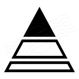 Chart Pyramid Icon 256x256