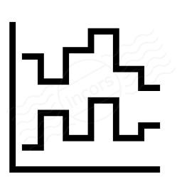 Chart Step Icon 256x256