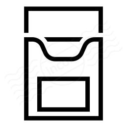Cigarette Packet Empty Icon 256x256
