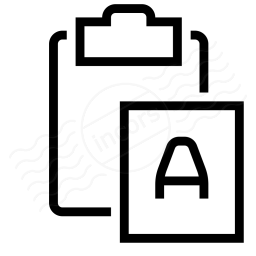 Clipboard Paste No Format Icon 256x256
