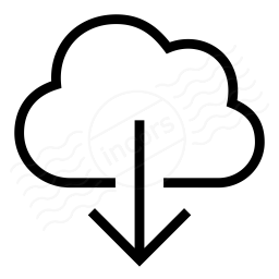 Cloud Download Icon 256x256