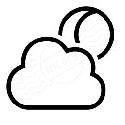 Cloud Moon Icon 256x256