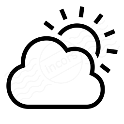 Cloud Sun Icon 256x256