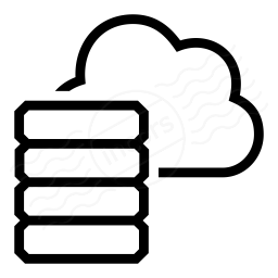 Iconexperience I Collection Data Cloud Icon