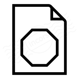 Document Stop Icon 256x256