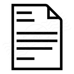 Document Text Icon 256x256