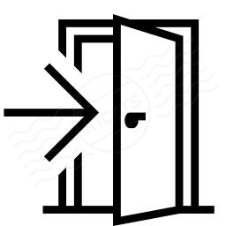 Exit Door Icon Exit Door Flat Icon Vector Image Sc 1 St Vectorstock