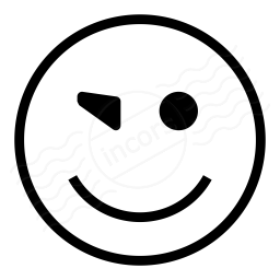 Emoticon Blink Icon 256x256