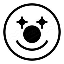 Emoticon Clown Icon 256x256