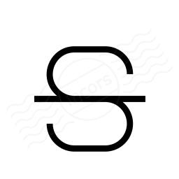 Font Style Strikethrough Icon 256x256
