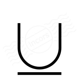 Font Style Underline Icon 256x256