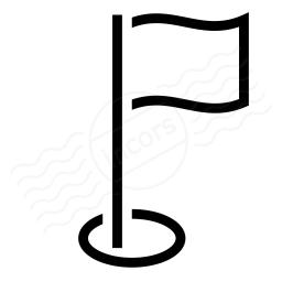 Golf Flag Icon 256x256